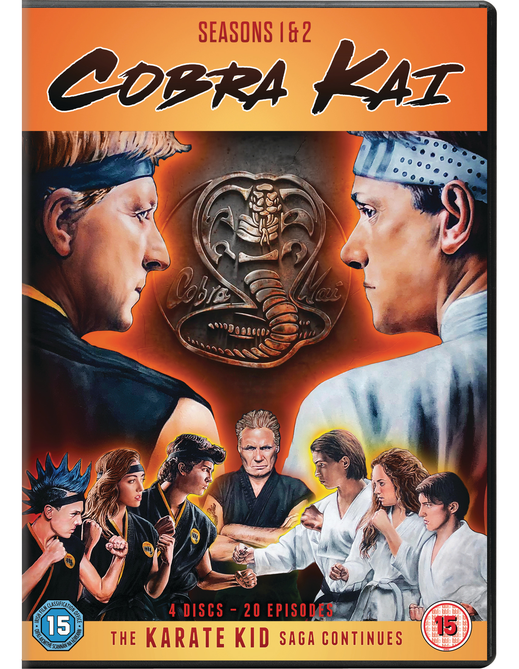 COBRA KAI SEASONS 1 & 2 Available on DVD on May 4